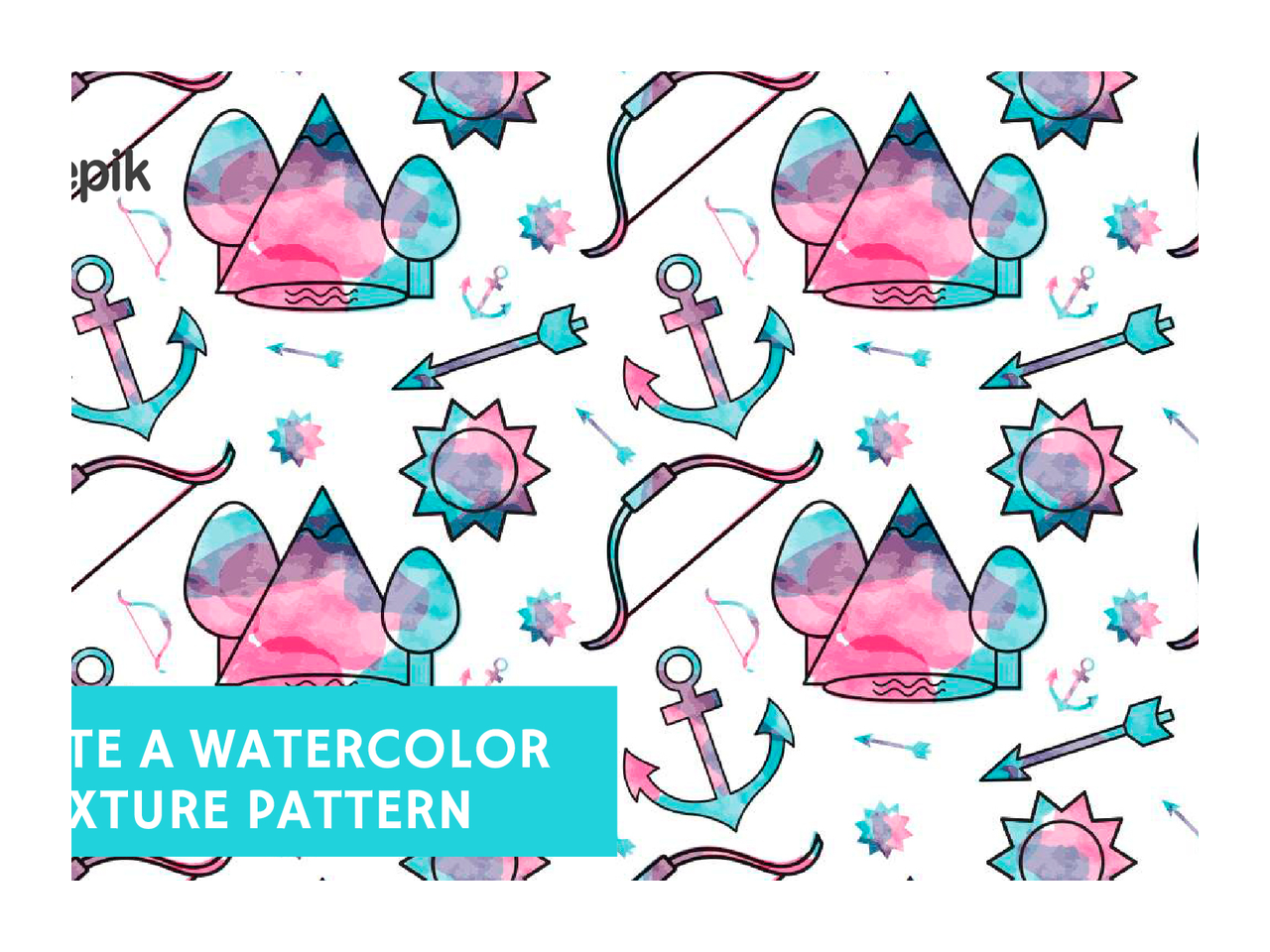 How to create a. Waves clipart watercolor