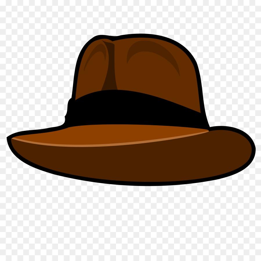 Fedora clipart. Hat clip art brown