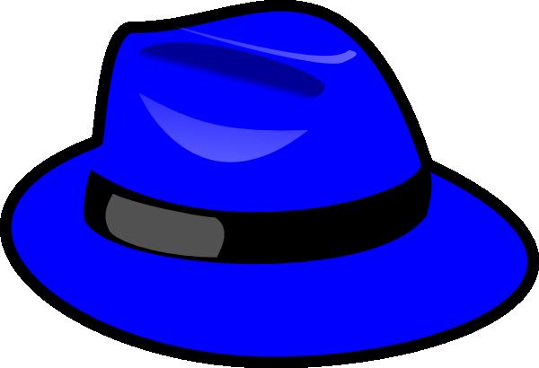 Blue clip art at. Fedora clipart