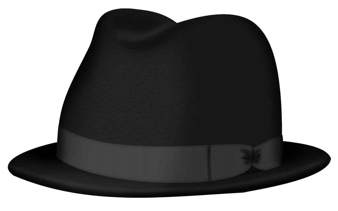 Fedora clipart. Black hat png picture