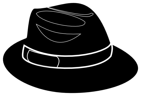 Fedora clipart. Black stencil clip art