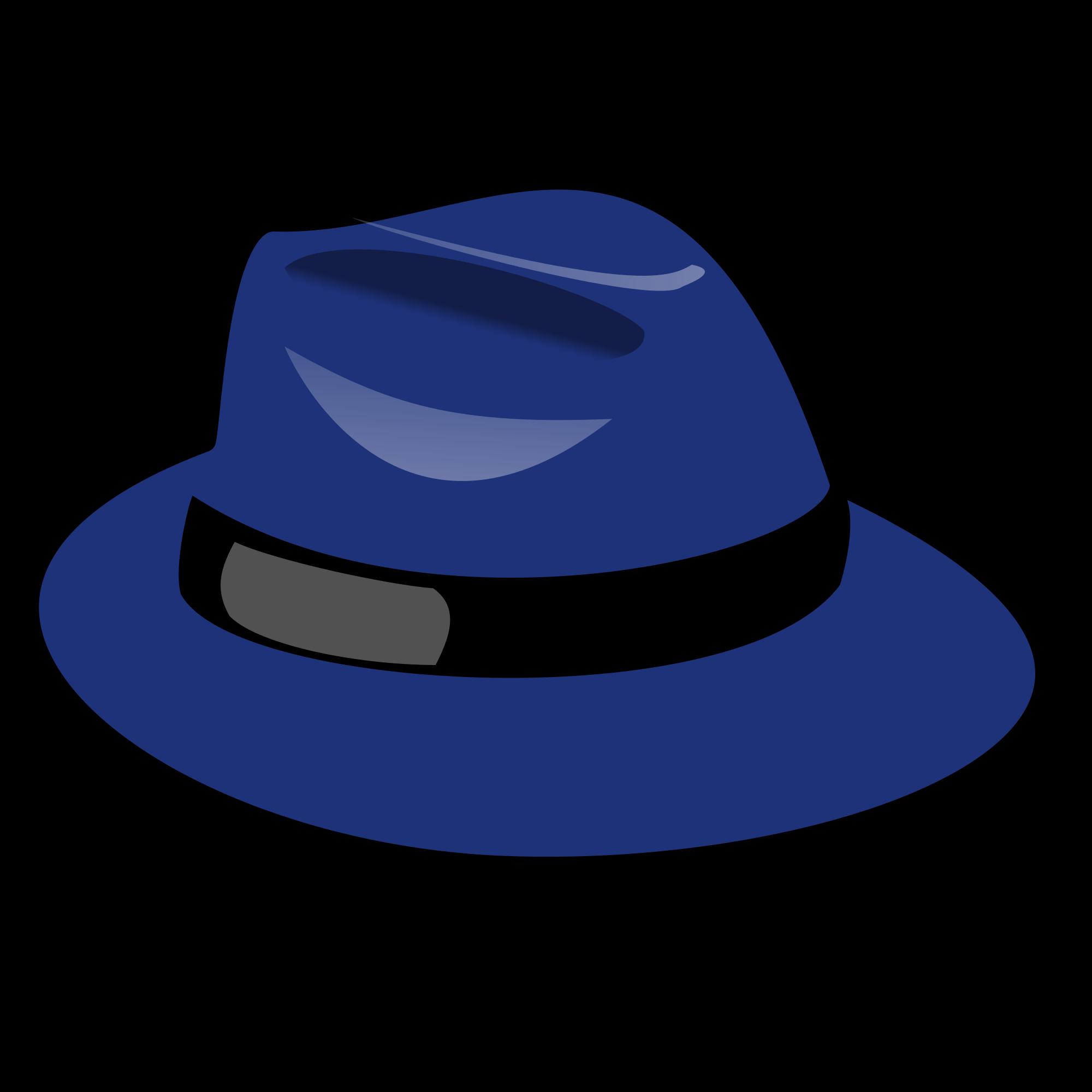 Fedora clipart alpine hat. File tux paint blue