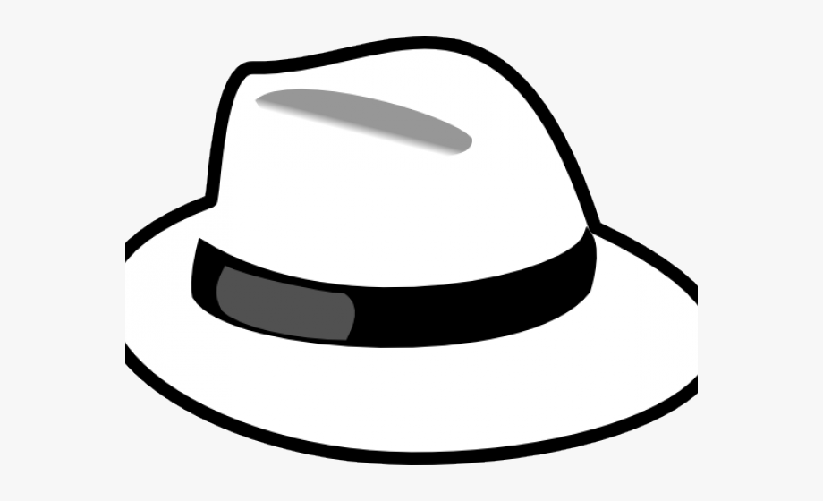 Fedora clipart black and white. Hat cliparts six thinking