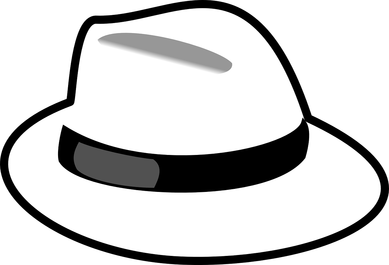 Hat link building keysearch. Fedora clipart black and white