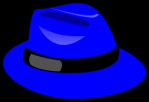 Clip art at clker. Fedora clipart blue