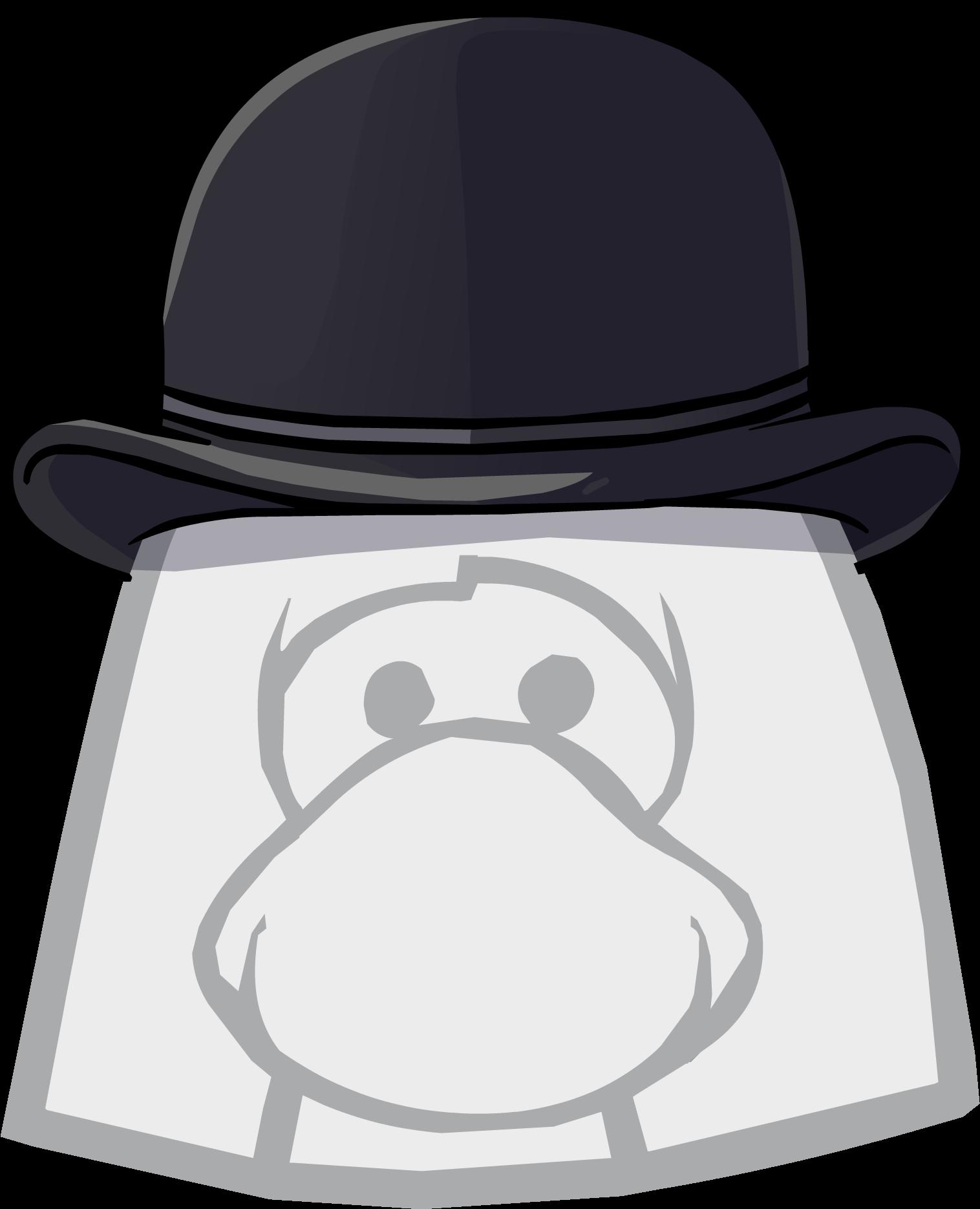 Fedora clipart bowler hat. Club penguin wiki fandom