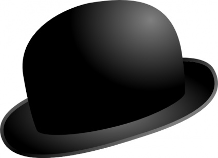 Free images download clip. Fedora clipart bowler hat