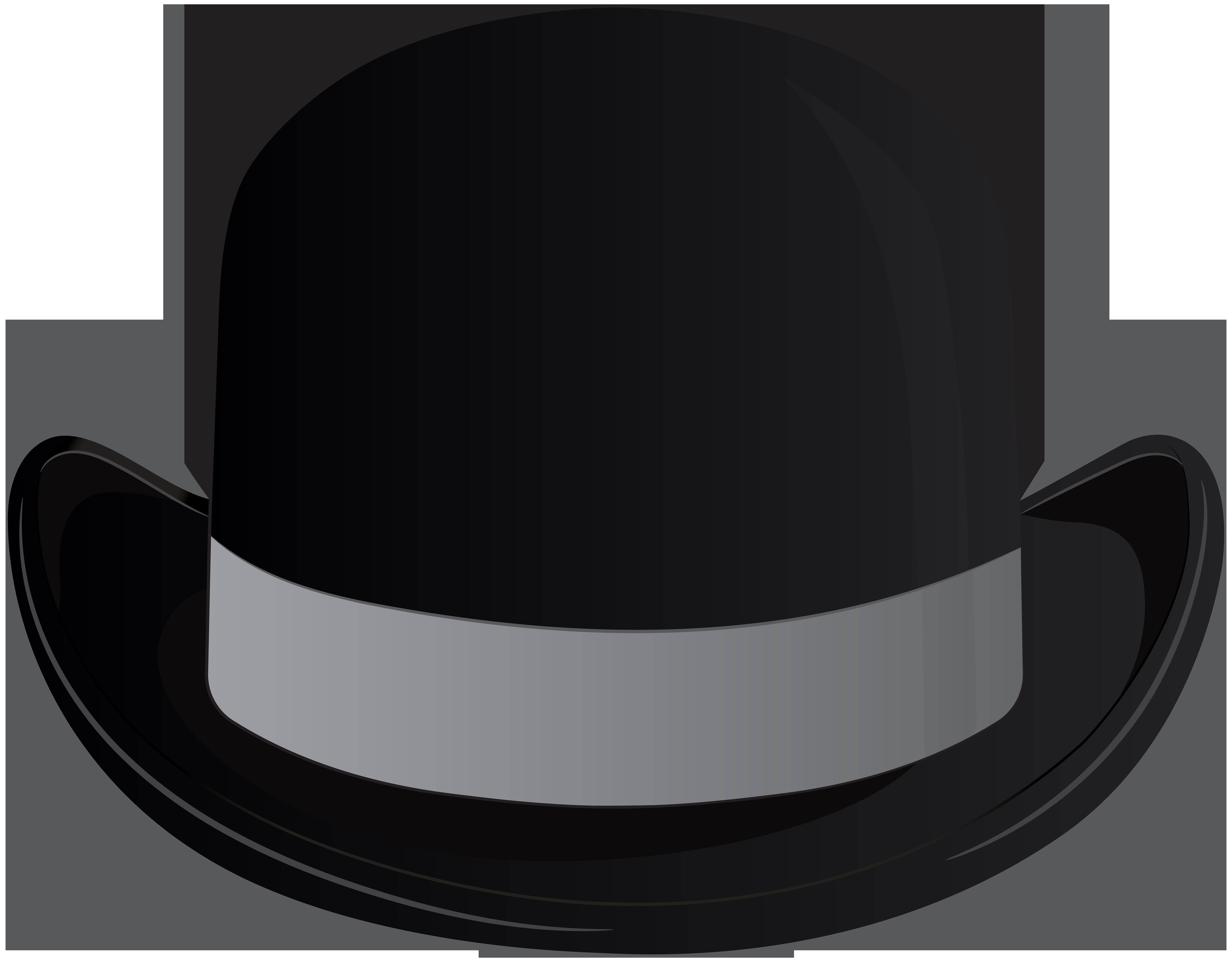Fedora clipart bowler hat. Headgear clip art hats