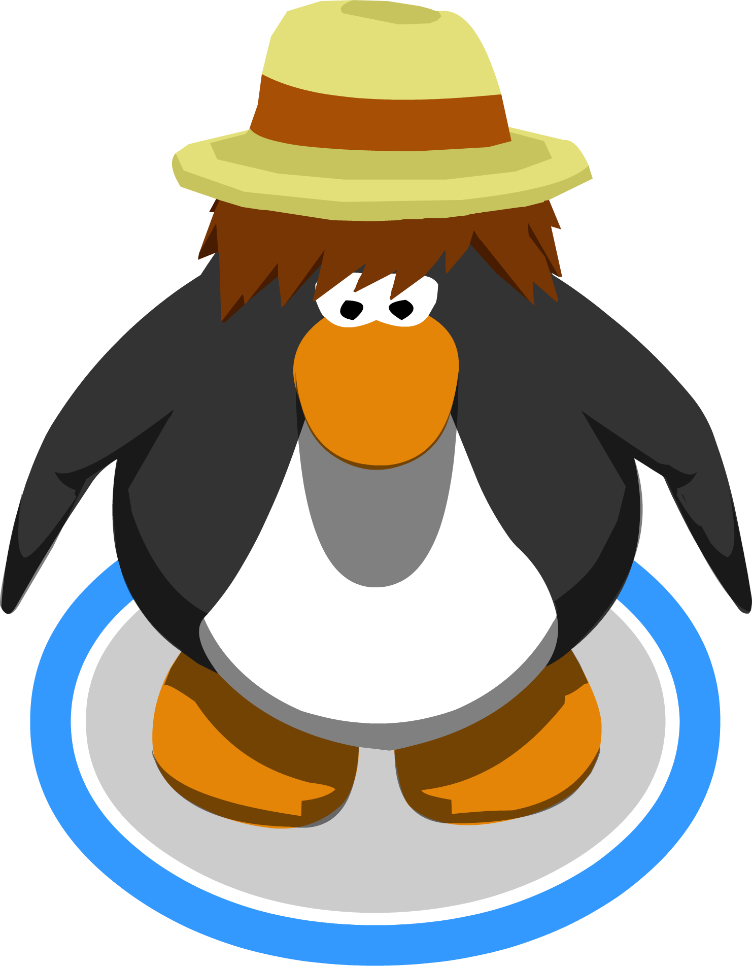 Fedora clipart club penguin. Image straw ig png