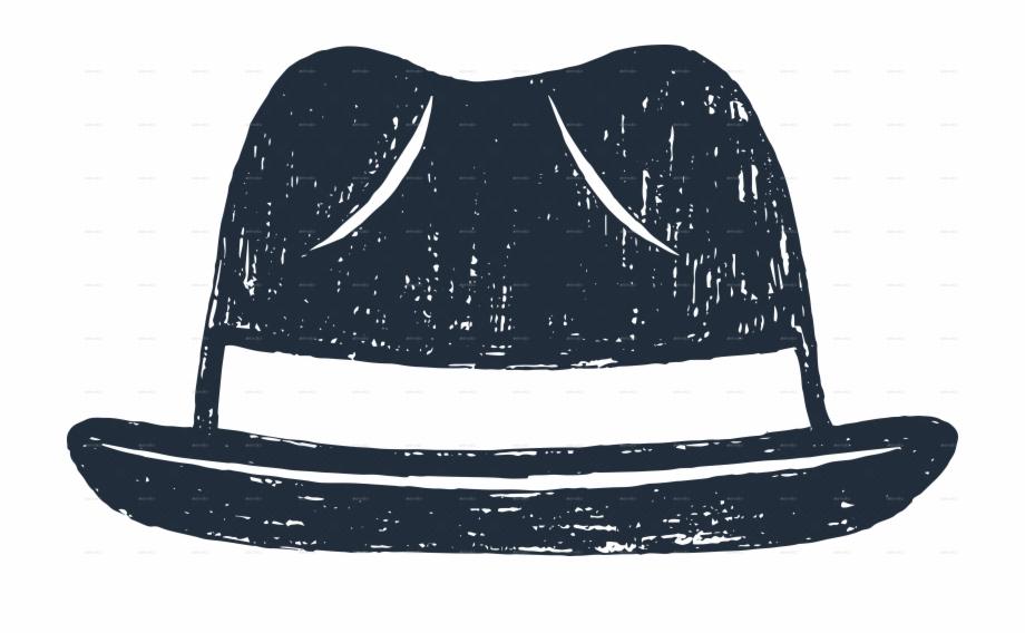 Fedora clipart detective hat. Hipster illustration free png