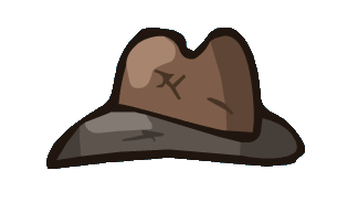 Cowboy brown fashion accessory. Fedora clipart detective hat