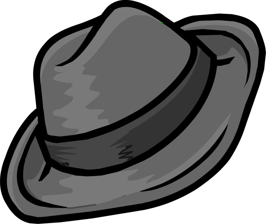 Image gray png club. Fedora clipart detective hat