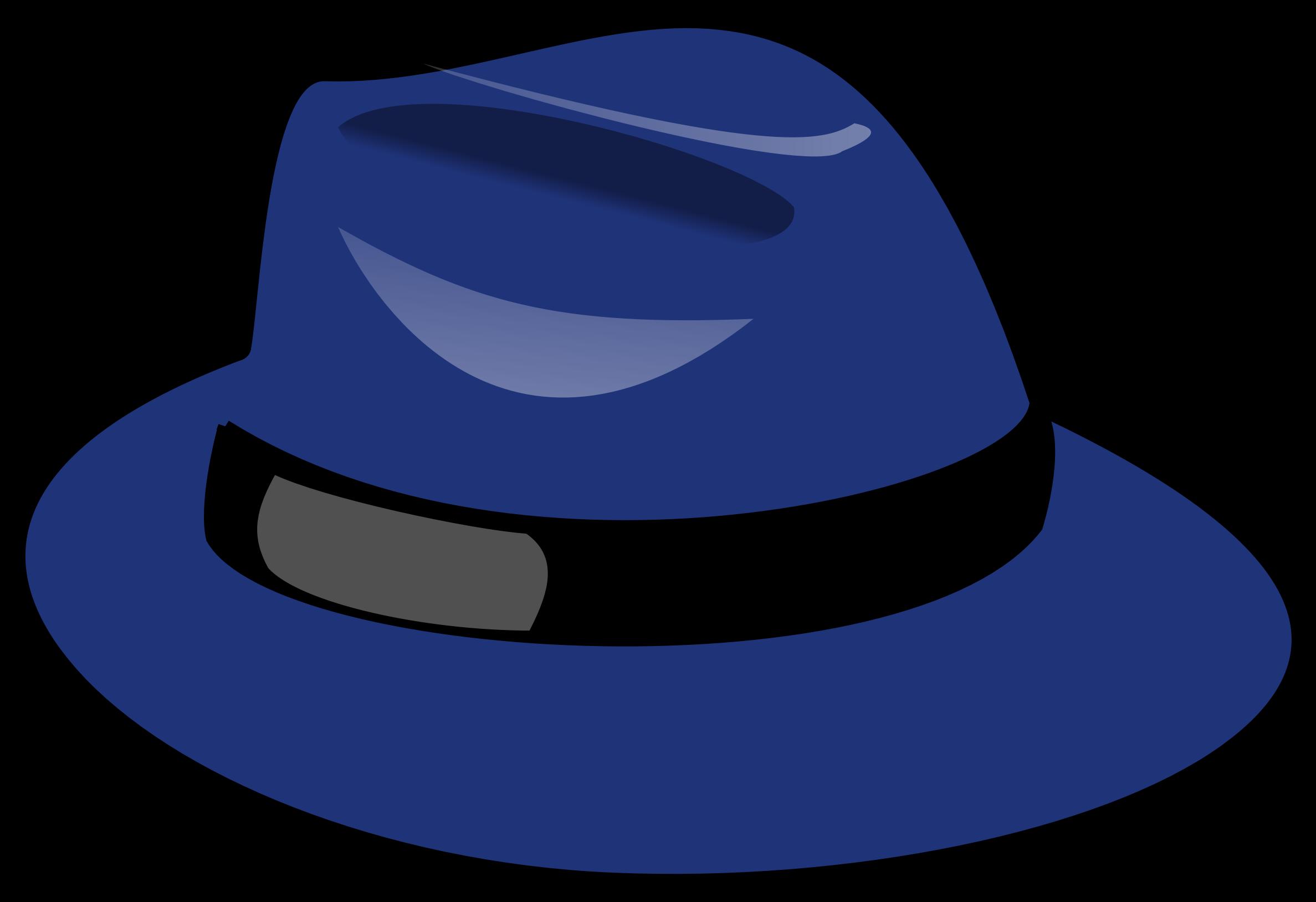 Fedora clipart fadora. Blue big image png