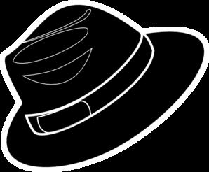 Black stencil clip art. Fedora clipart fadora