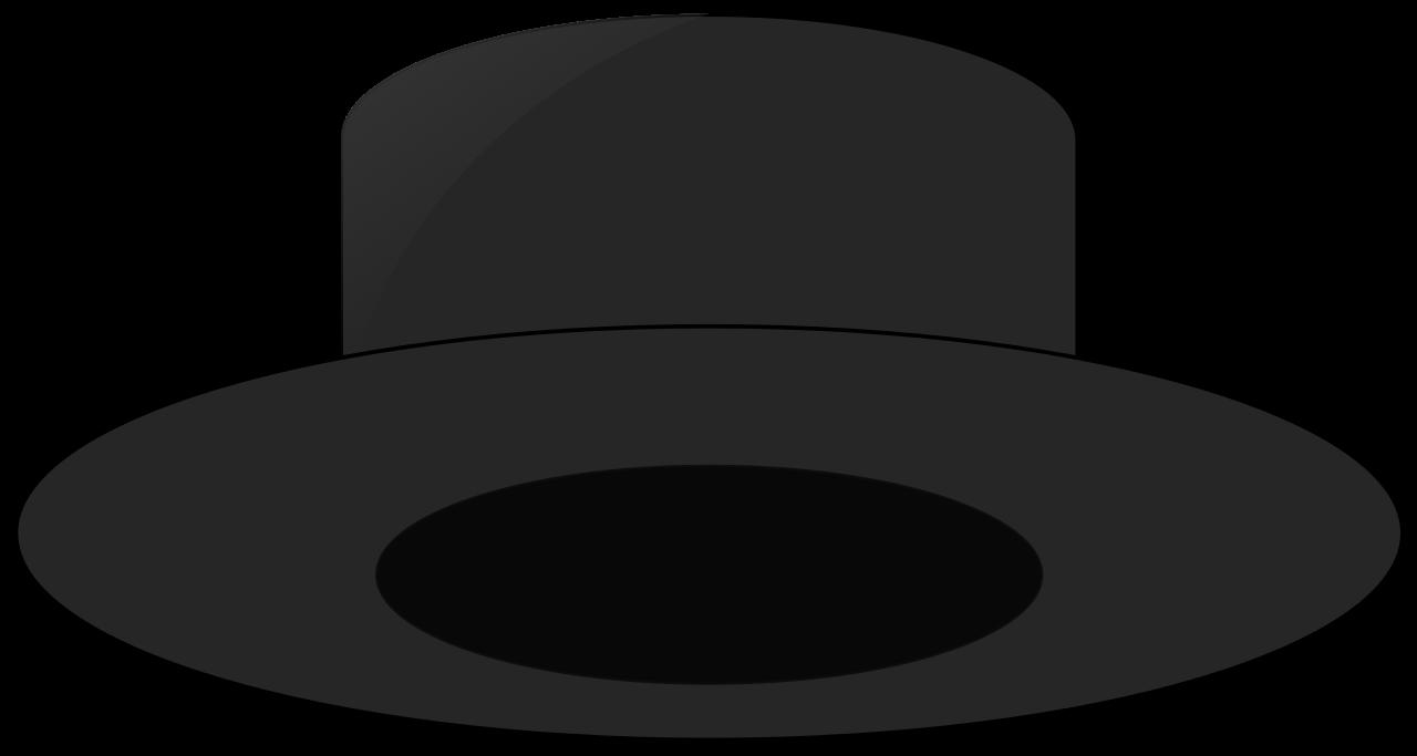 File a black svg. Fedora clipart grey hat