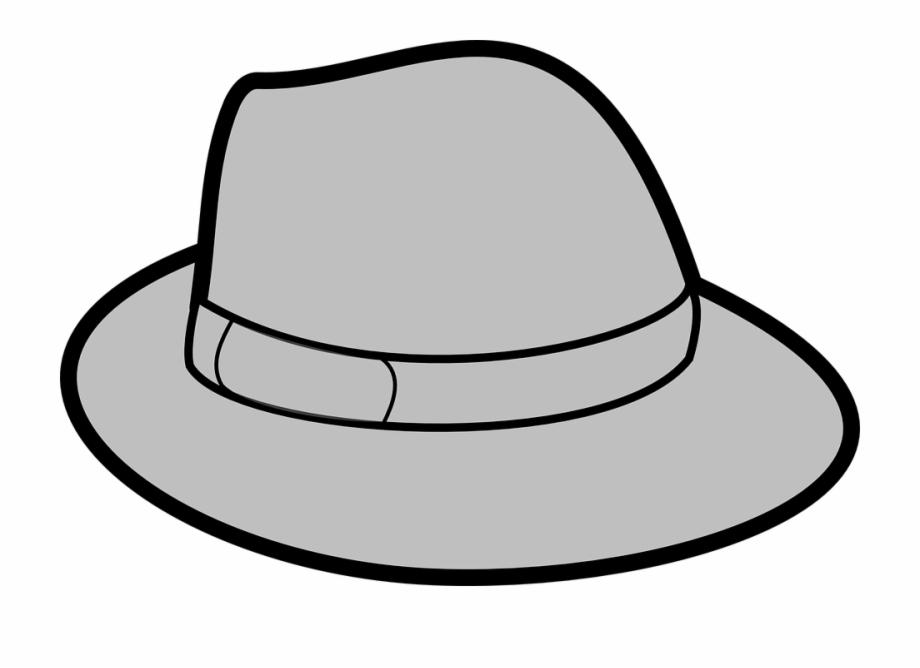 Fedora clipart grey hat. Gray trilby headwear crooner