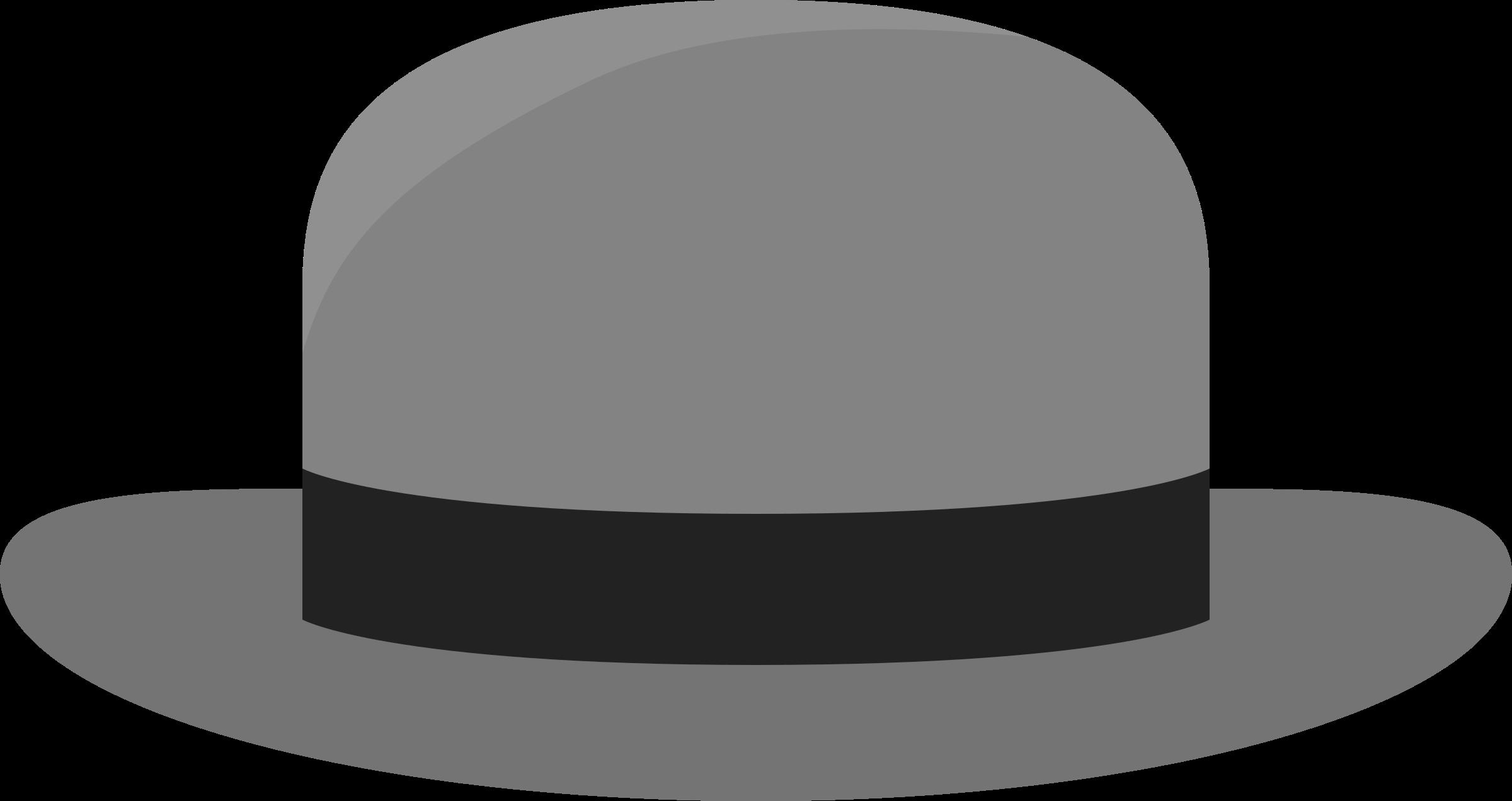 Bowler big image png. Fedora clipart grey hat