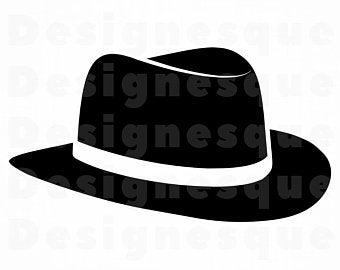 Fedora clipart headwear. Hat etsy