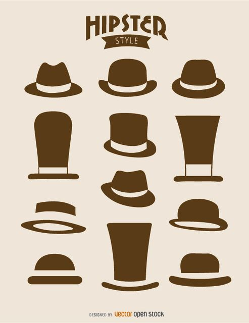 Pin by vexels graphic. Fedora clipart hipster hat