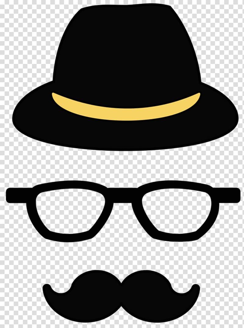 Moustache lip mask transparent. Fedora clipart hipster hat