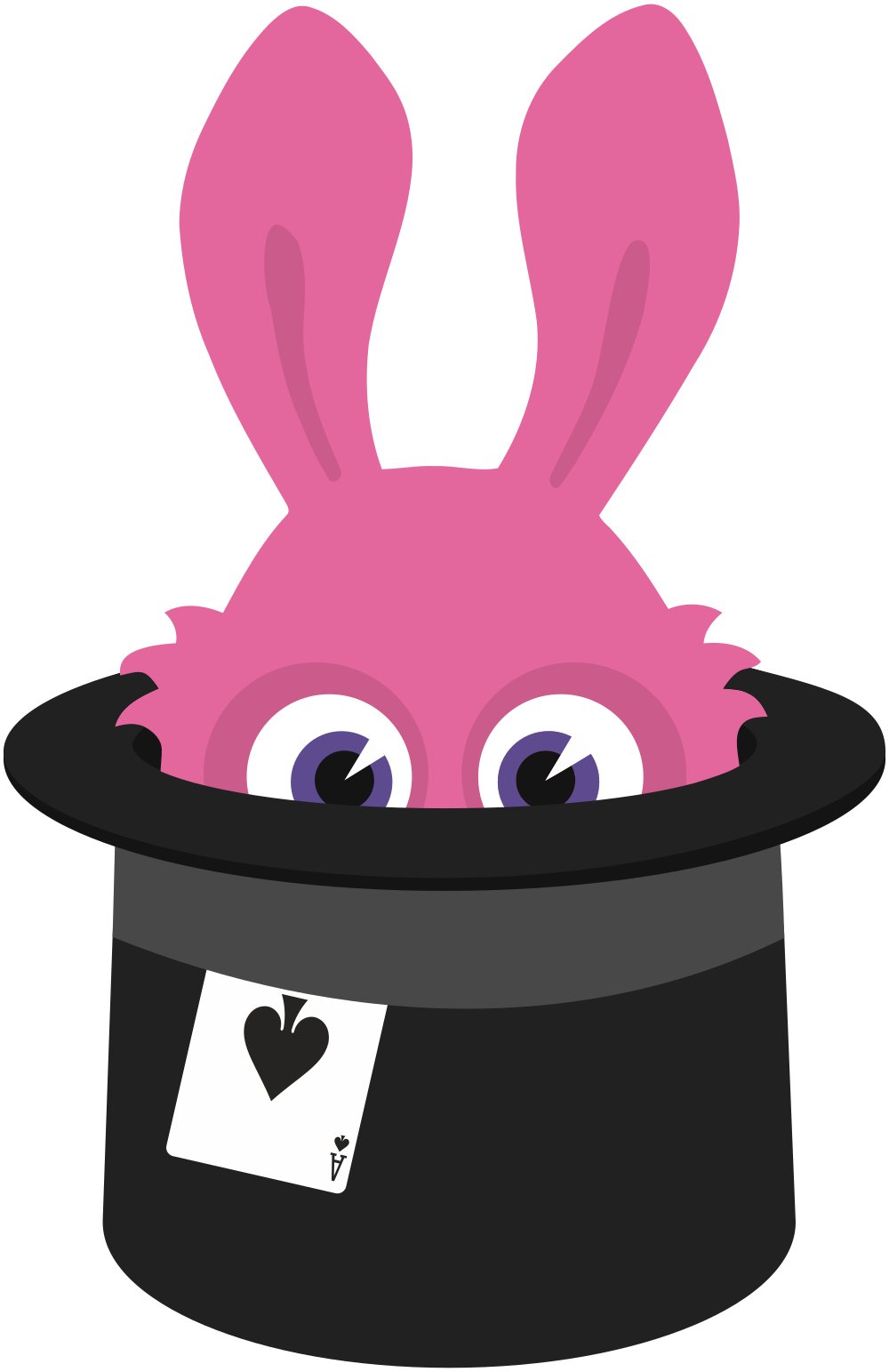 Fedora clipart magic. Onlinelabels clip art rabbit