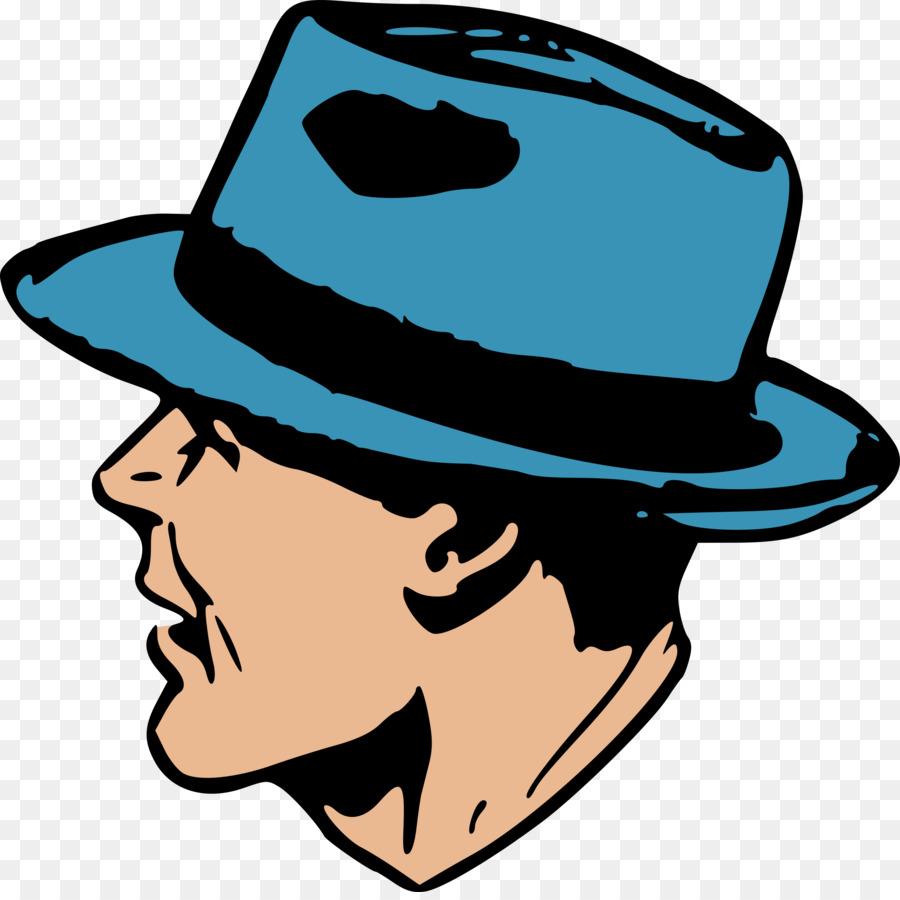 Cowboy man cap transparent. Fedora clipart man's hat