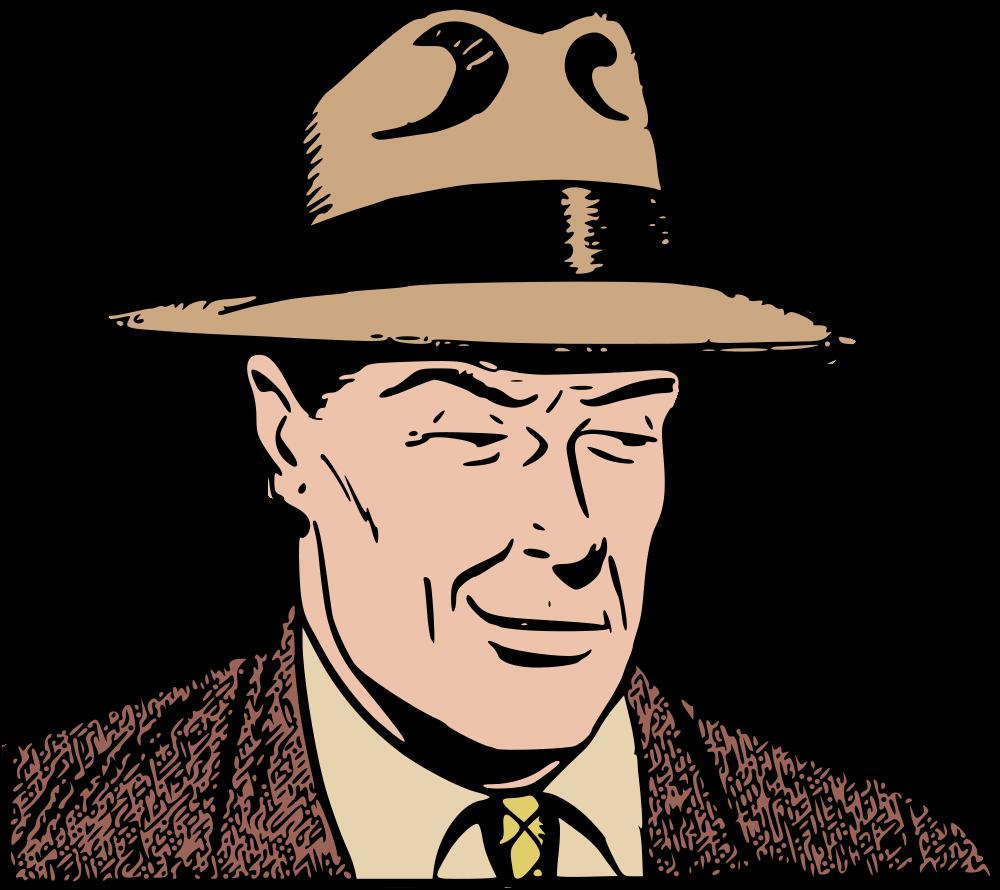 Onlinelabels clip art man. Fedora clipart man's hat