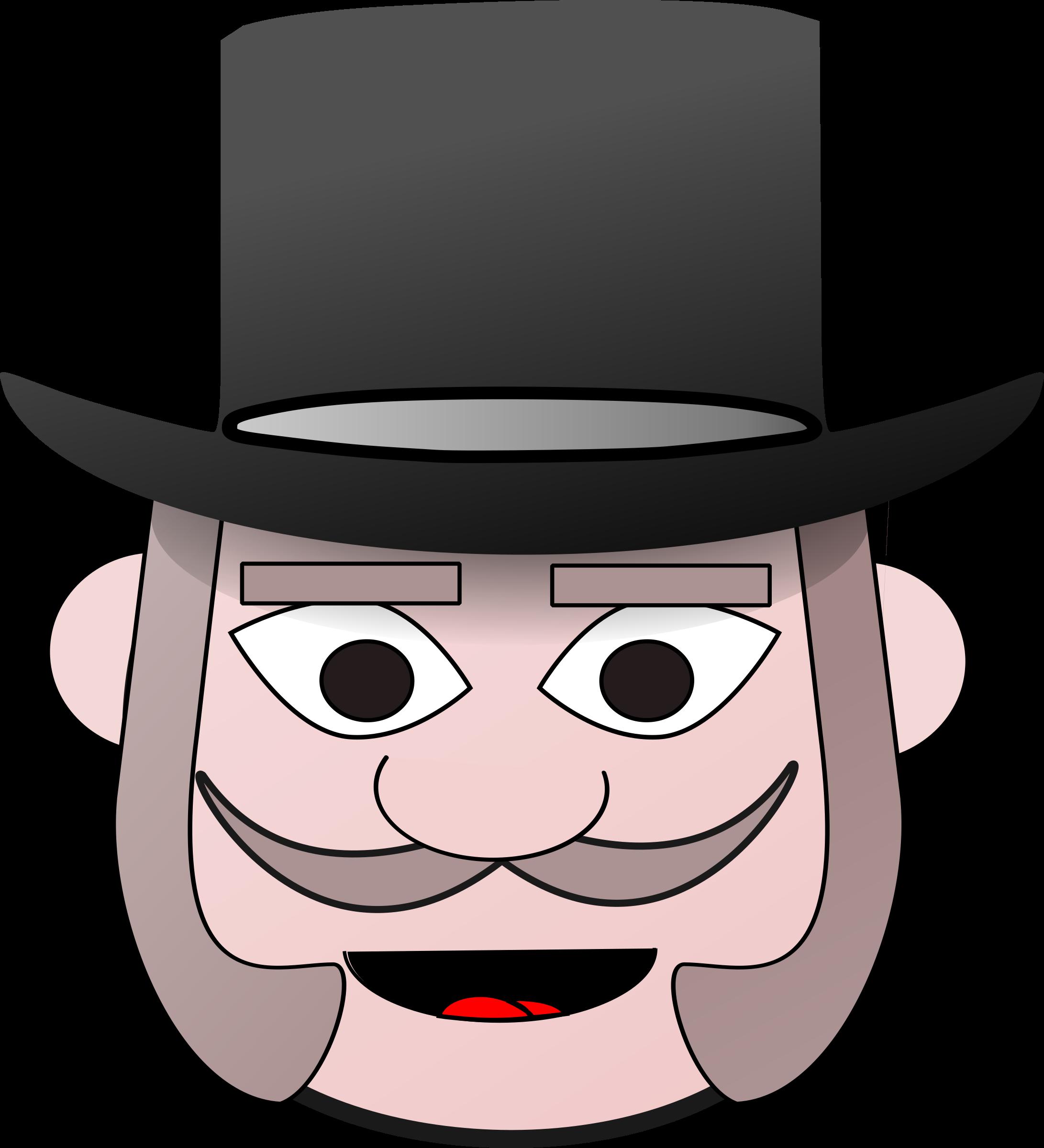 Fedora clipart man's hat. Victorian man