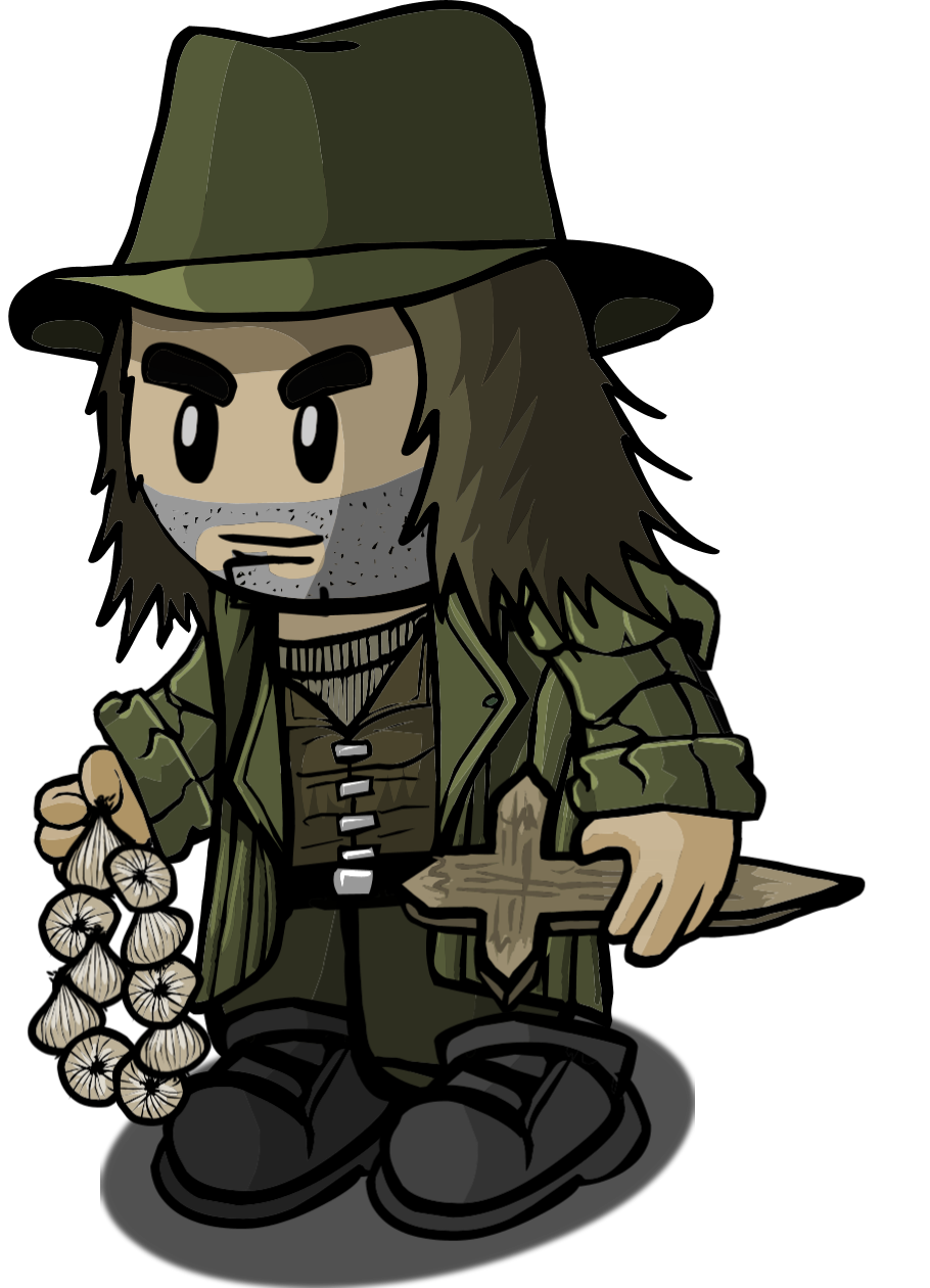 Hunter clipart character. Vampire town of salem