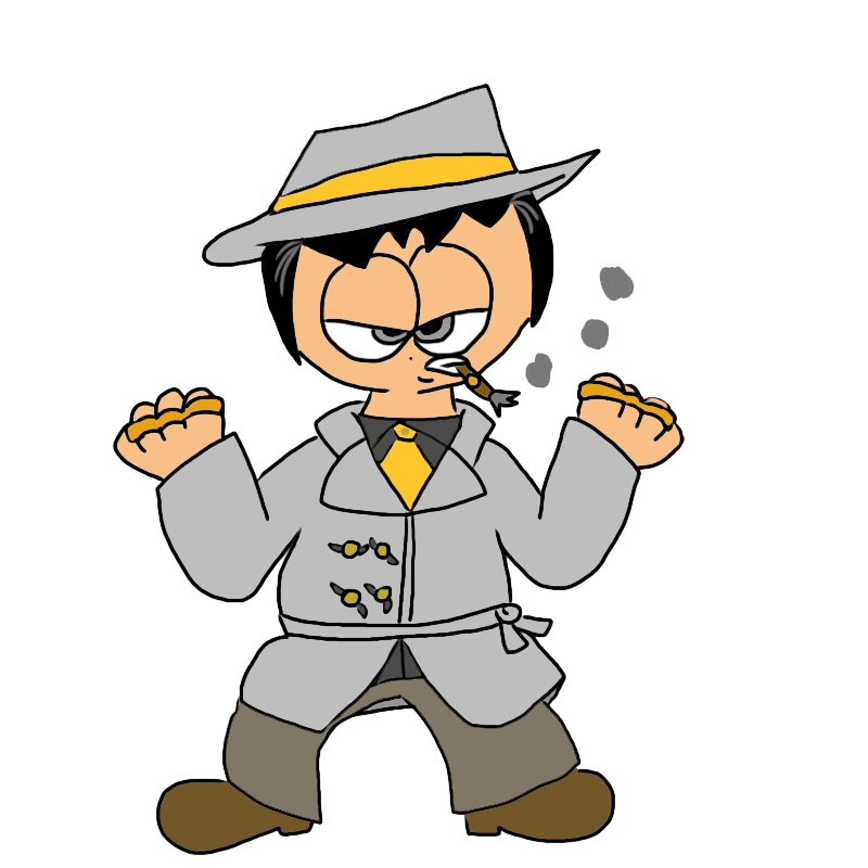 Ps humanized kingpin by. Fedora clipart mobster
