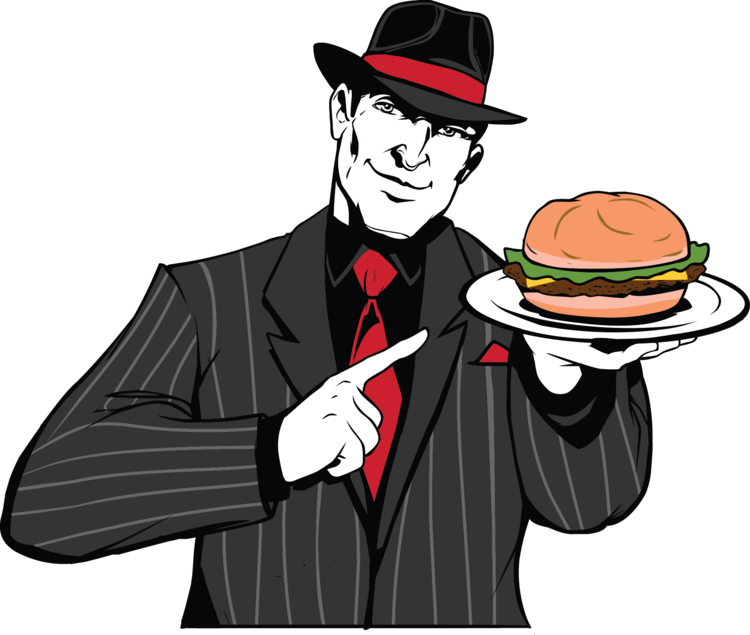 Fedora clipart mobster. The boss grill located