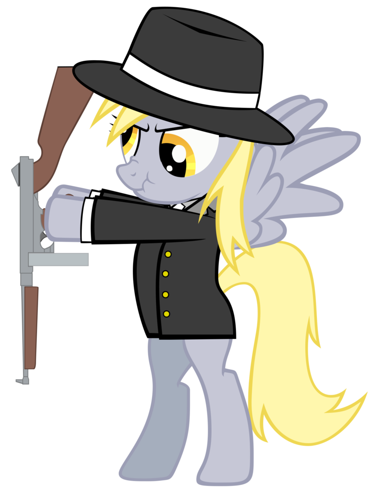 Gangster derpy by zakbo. Fedora clipart mobster