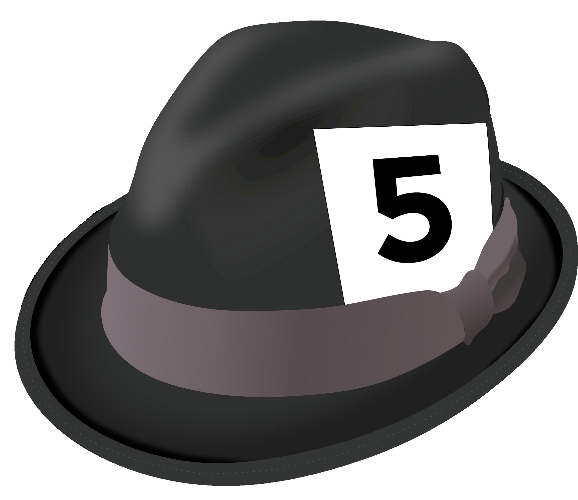 Fedora clipart press hat. Varsity math week national