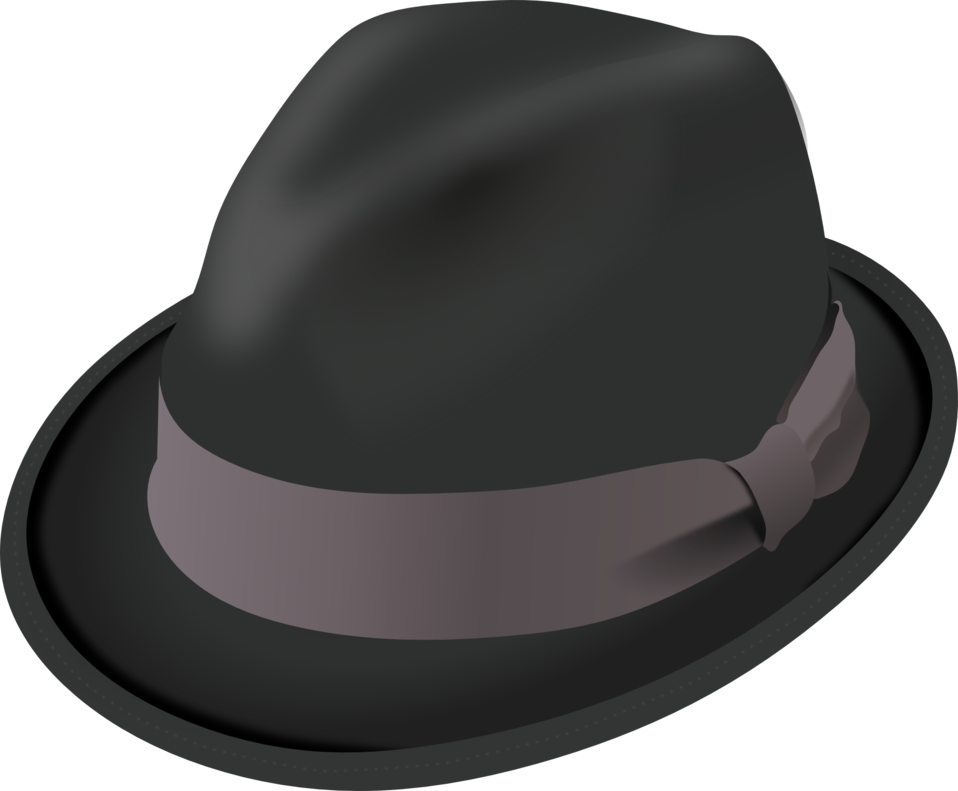 Public domain clip art. Fedora clipart small hat