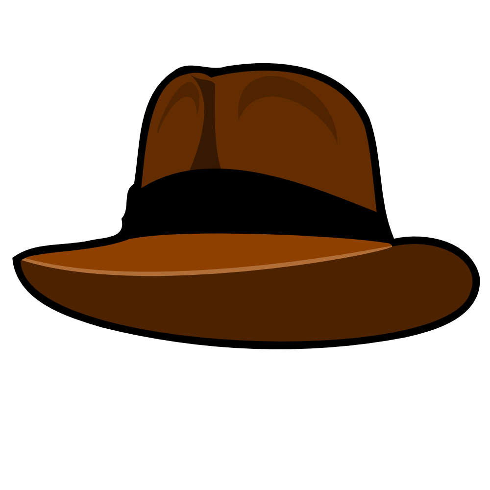 Fedora clipart small hat. Onlinelabels clip art adventurer
