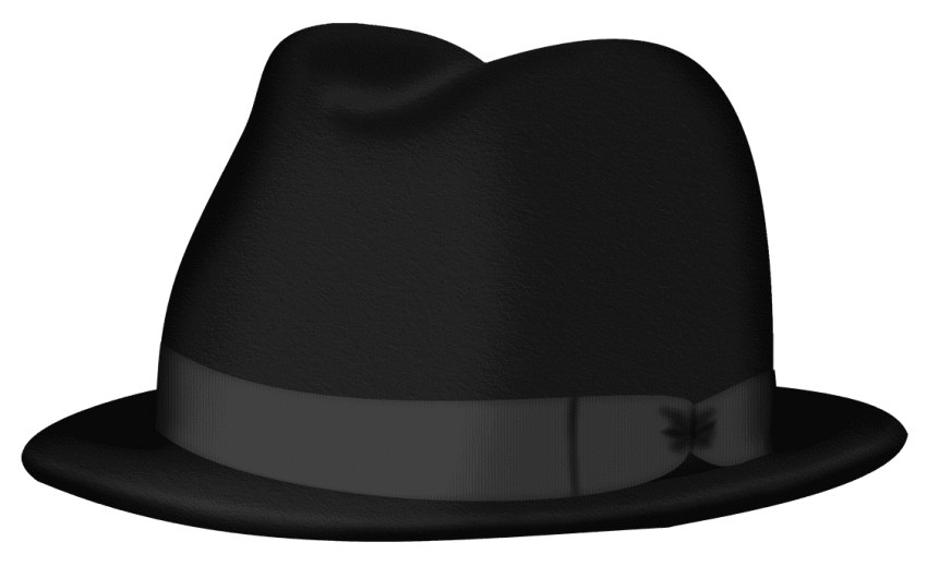 Fedora clipart small hat. Black png free images