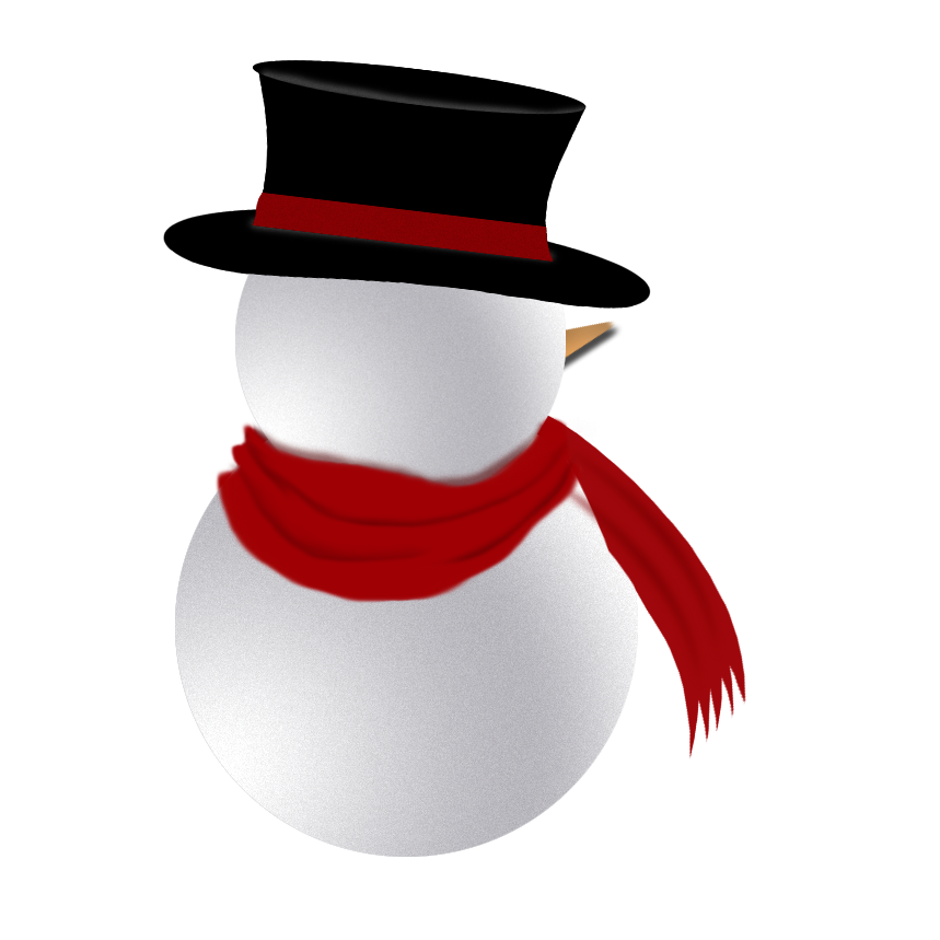 Snowman by ditney on. Fedora clipart snow man