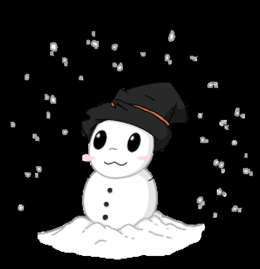 Fedora clipart snow man. Chibi snowman by digitick