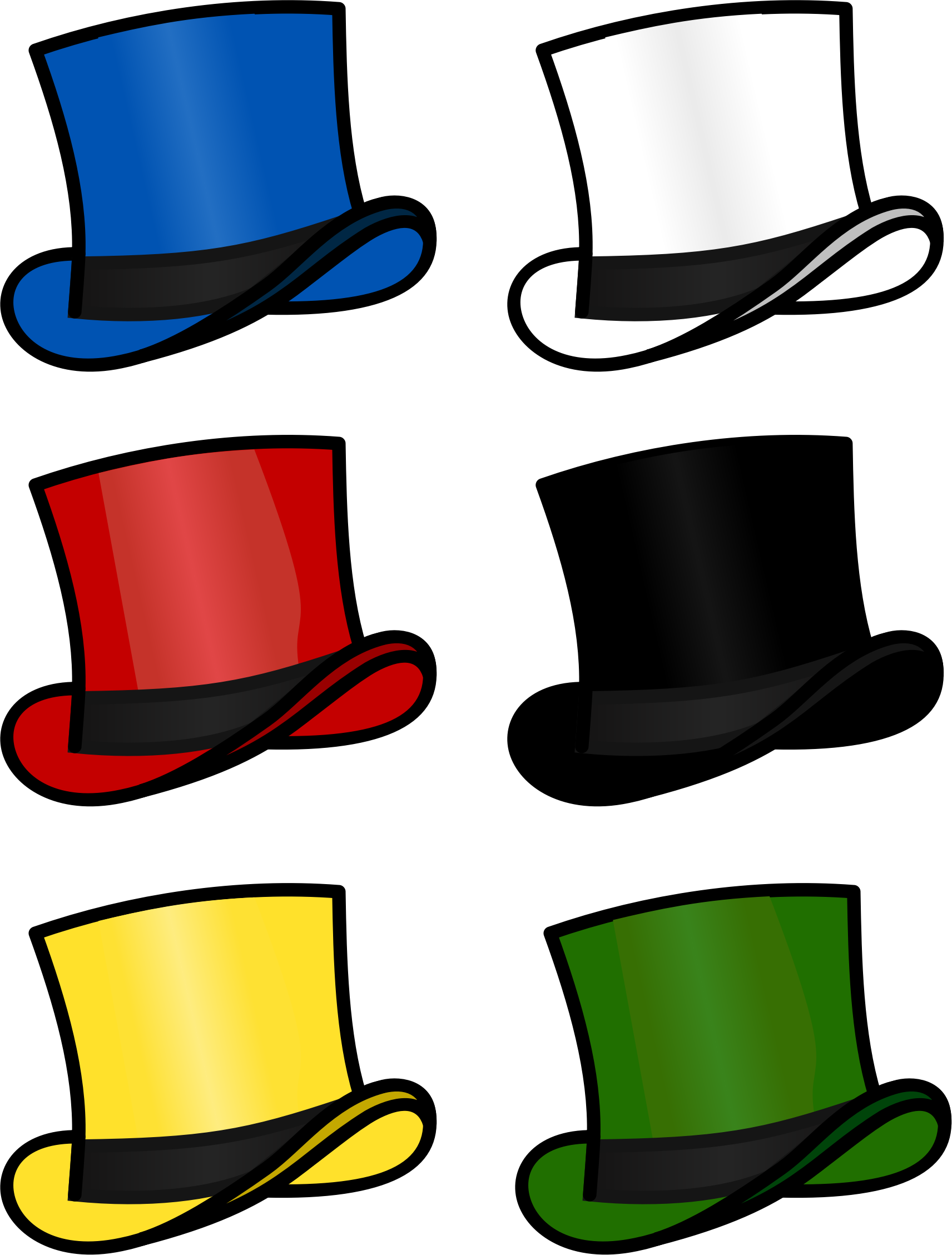 Six thinking hats by. Jobs clipart hat