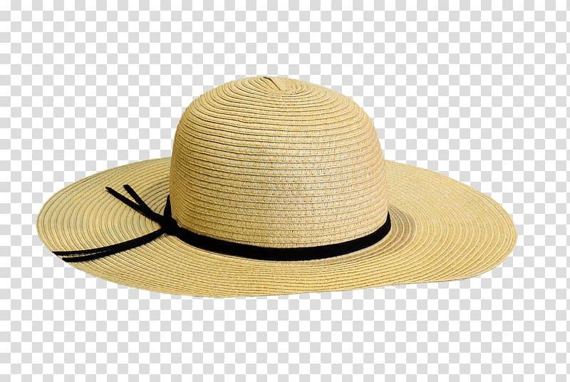 Fedora clipart summer hat. Beige straw transparent background