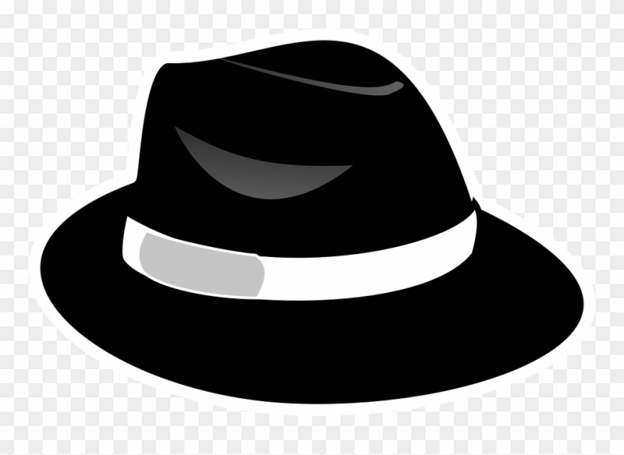 Fedora clipart transparent background. Black with png