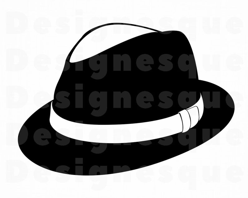 Fedora clipart vector. Hat svg files for