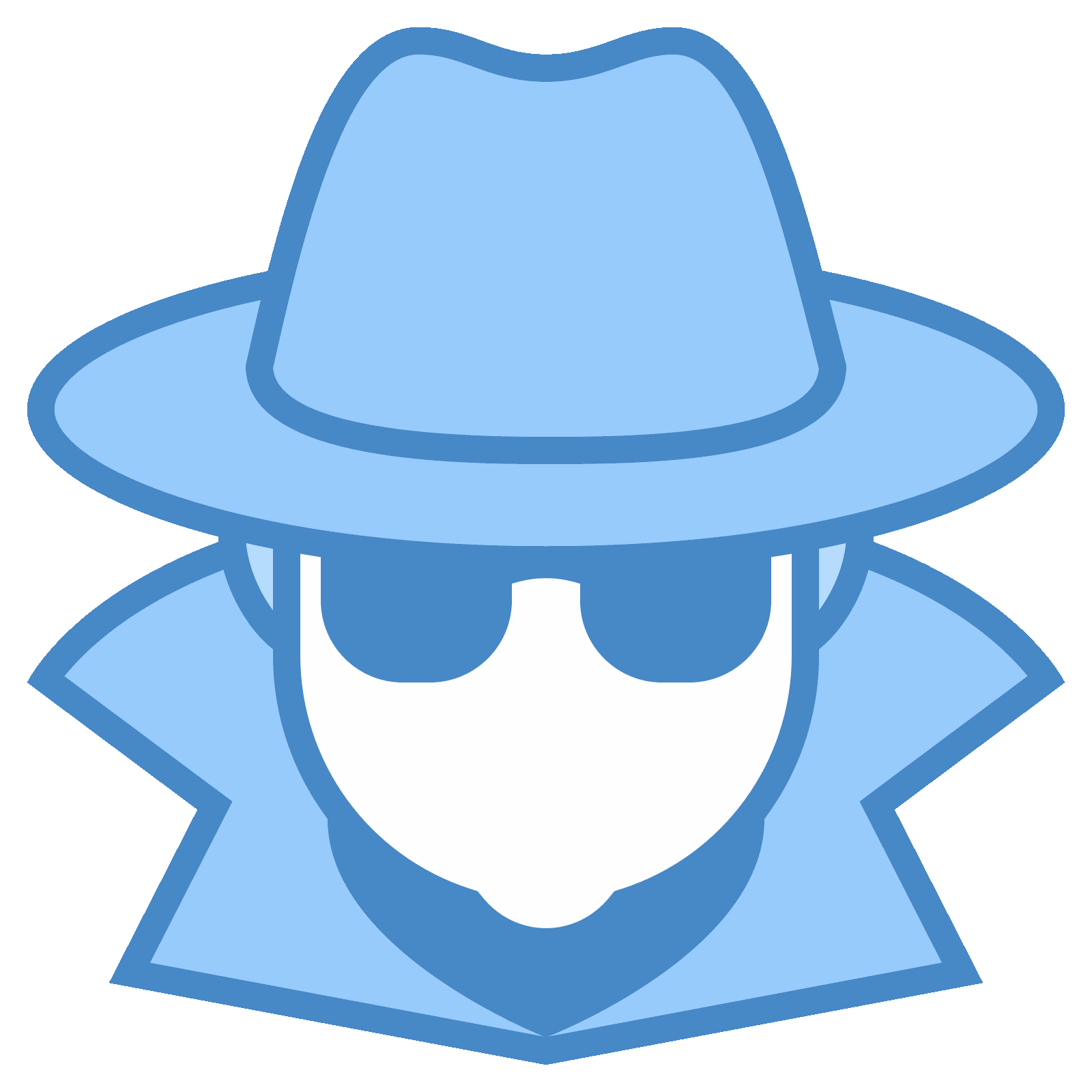 Fedora clipart vector. Spy icon free download