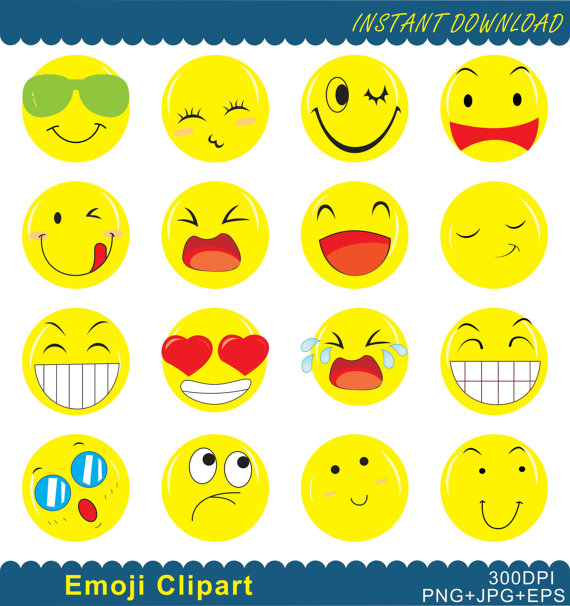 Feelings clipart. Emoji png emoticons collage