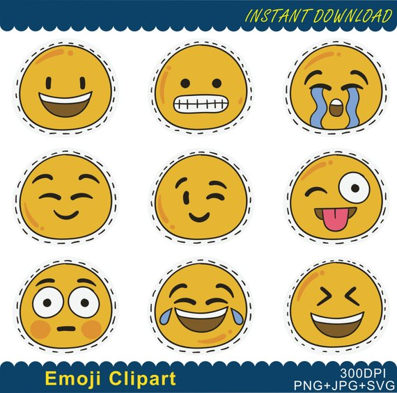 Emoji png emoticons collage. Feelings clipart