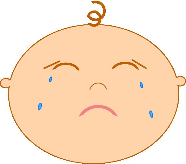 Sad clip art at. Feelings clipart baby