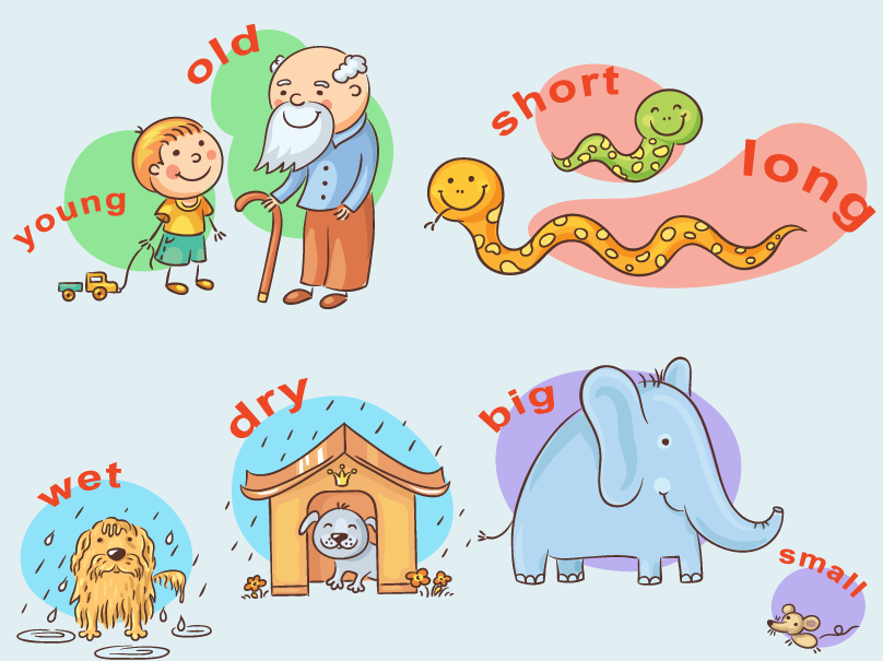 Feelings clipart feeling word. Antonyms and synonyms course