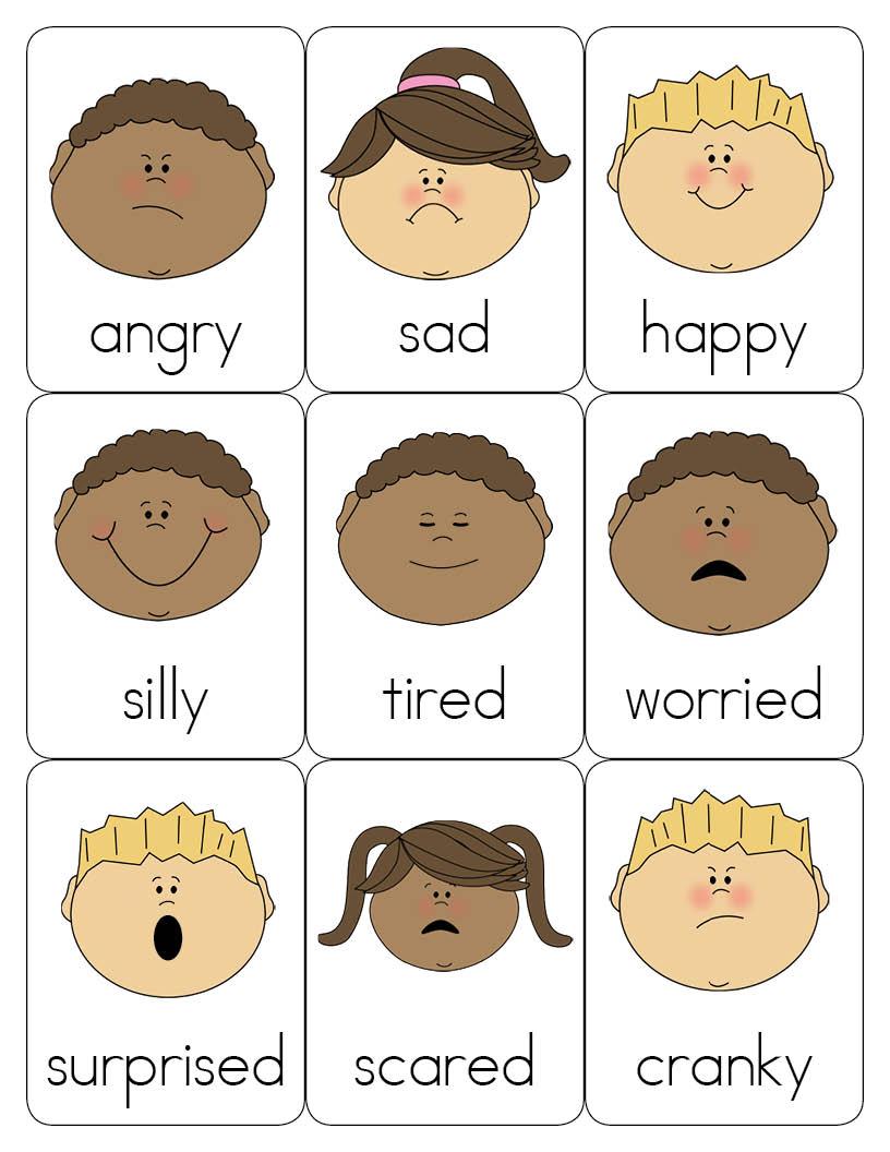 Emotions preschool clip art. Feelings clipart feeling word