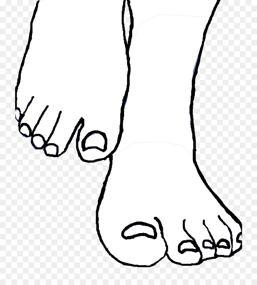 Foot drawing toe clip. Feet clipart