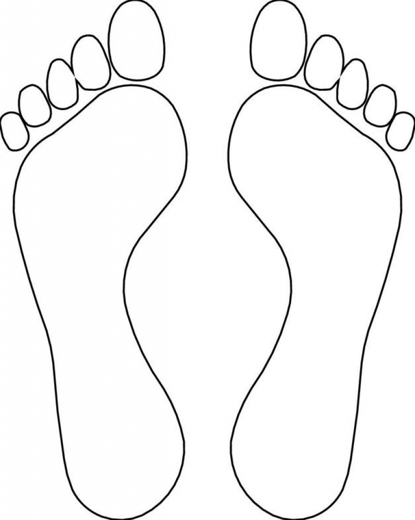 Foot outline drawing at. Feet clipart